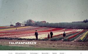 Tulipanparken - hjemmeside jeg har lavet i 2018